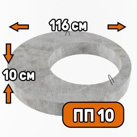 Плита перекрытия пп 10 - фото